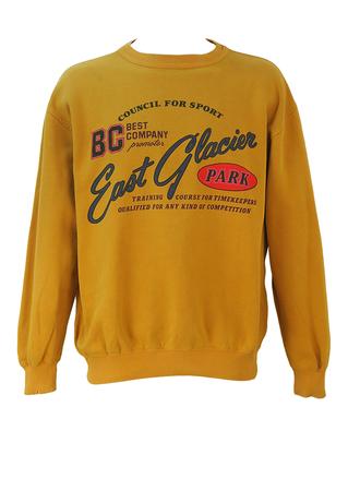 Best Company Olmes Carretti 'East Glacier Park' Ochre Sweatshirt - XL