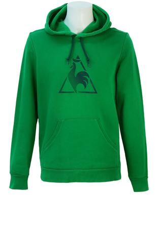 Le Coq Sportif Green Hoodie with Blue Logo - M/L