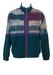 Australian L'Alpina Velour Track Jacket with Teal, Purple & Pink Batik Style Pattern - L/XL