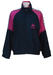 Kappa Navy Blue Track Jacket with Fuchsia Pink Shoulder Detail - S/M