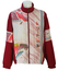 Australian by L'Alpina Burgundy Track Jacket with White, Blue & Orange Abstract Tribal Pattern - XL