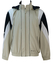 Champion Beige and Blue Track Jacket with Detachable Hood - M/L