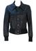 Vintage 70's Black Leather Bomber Jacket - XS/S