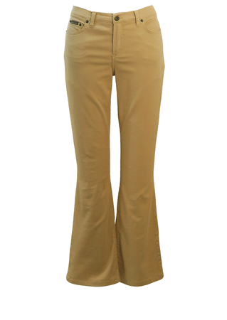 Dolce & Gabbana Lightweight Camel Coloured Flared Jeans - M