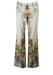"""Roberto Cavalli Men's Cream Coloured Jeans with Olive, Ochre, Russet & Blue Ethnic Pattern - W34"""""""