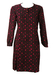 Vintage 1960's Tunic Dress with a Pink, Black & Aubergine Pattern - L