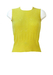 Vintage 60's Lemon Yellow Sleeveless Knit Top with Cut Out Pattern Detail - S
