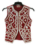 Pearly King & Queen Style Burgundy Red Waistcoat with White Mother of Pearl Buttons - XS