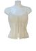 Luisa Spagnoli Cream Angora Corset Top with Silk Lining - S