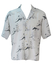 White Short Sleeved Shirt with Pencil Drawing Flamenco Dancers Pattern - M/L