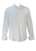 White Dress Shirt with Striped Bib Detail - M
