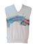 Australian L'Alpina White Sleeveless Sweatshirt with Pink, Green, Grey & Blue Graphic Print - M/L