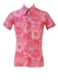 Vintage 60's Short Sleeved Shirt with Fuchsia Pink, Peach & White Psychedelic Print - S