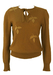 Alberta Ferretti Brown Jumper with Leaf Detail - S/M
