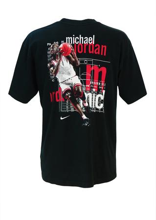 Vintage 90's Nike Michael Jordan Black T-shirt - L/XL