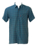 Missoni Blue Short Sleeved Shirt with Multicoloured Fleck Check Pattern - S/M