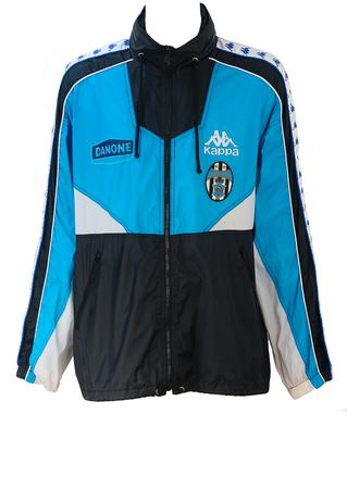 Vintage 90's Kappa Juventus Blue, White & Black Windcheater Track Jacket - XL/XXL