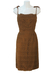 Vintage 60's Brown Lace Fitted Strappy Midi Dress - S/M