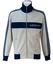 Vintage 80's Grey & Blue Adidas Track Jacket - M