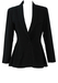 Basile Black Wool Peplum Evening Tux Jacket - M