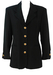 Vintage 90's Black Fitted Evening Jacket with Gold & Diamante Buttons - M