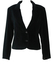 Trussardi Black Velvet Fitted Jacket - S/M