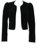 Black Velvet Bolero Jacket with Cord Edging - S