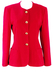 Fuchsia Pink Fitted Wool Jacket with Gold Buttons - M