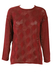 Burgundy Mesh Detail Jumper - M/L