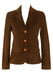 Jumbo Corduroy Brown Fitted Jacket - S