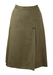 Brown & Cream Herringbone Patterned Skirt with Heraldic Buttons - M