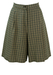 Cream and Green Checked Tailored Shorts - S