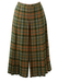 Pleated Green, Red & Grey Tartan Midi Culottes - M