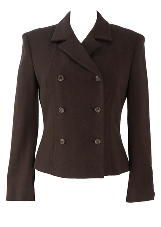 Dolce & Gabbana Brown Double Breasted Jacket - S