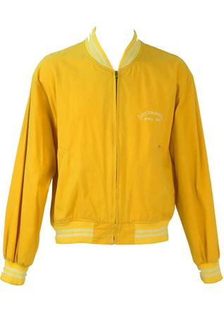 Levi's Yellow Cotton Baseball/Bomber Jacket - L/XL
