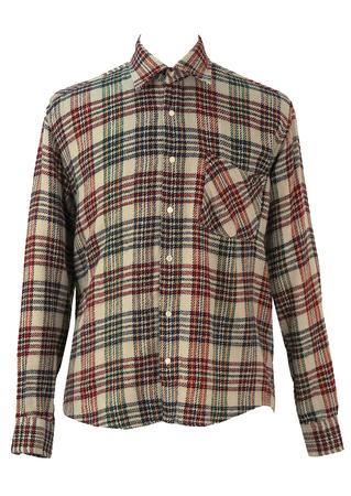 Grey Multicoloured Check Flannel Shirt - XL/XXL