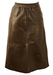 Soft Leather Brown Skirt with Elasticated Waist - S