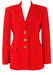 Ferre 'Studio 0001' Red Jacket with Gold Buttons - S/M