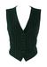 Valentino Navy and Green Striped Waistcoat - S/M