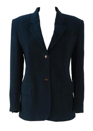 Laura Biagiotti Blue Blazer Jacket - M