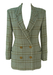Genny Grey & Green Double Breasted Jacket with Check Pattern - S