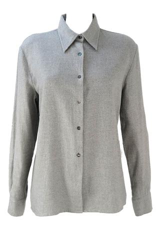 Brushed Cotton Grey Blouse - M/L