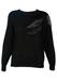 Black Sparkly Jumper with Metallic & Velvet Textured Pattern - M/L
