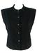 Byblos Black Velvet Diamond Patterned Gilet Waistcoat - M