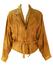 Vintage 1980's Batwing & Belted Tan Leather Jacket - M/L