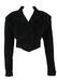 Vintage 1980's Black Suede Cropped Jacket - S/M