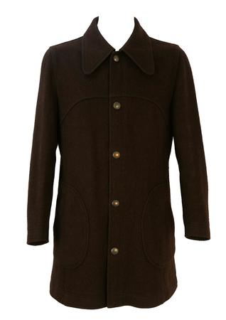 Vintage 1960's Belfe 3/4 length Jacket in Brown - M/L