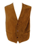 Camel Coloured Suede Waistcoat with Equestrian Pattern - M/L