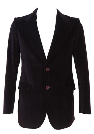 Vintage 1970's Purple Velvet Jacket - S