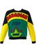 'Canadian' Ice Hockey Print Sweatshirt in Yellow, Green & Black - M